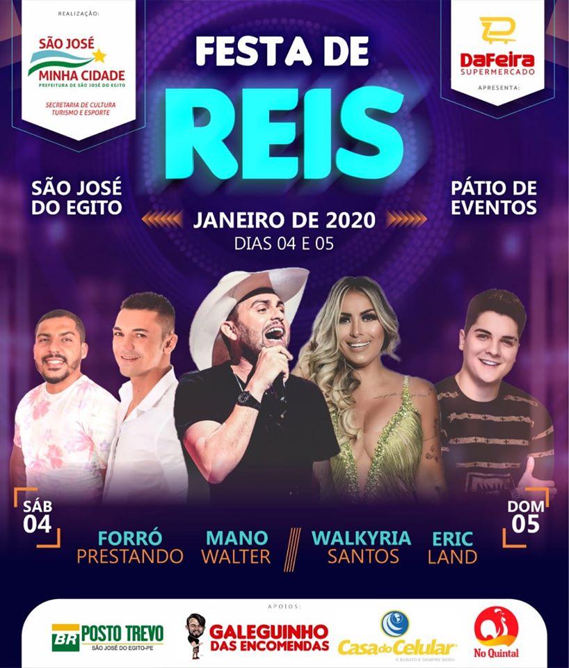 Prefeitura de SJE anunciou atrações para Festa de Reis 2020, que pode ter mais bandas