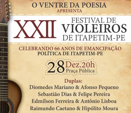 Itapetim fará festa de violeiros para comemorar 66 anos de emancipação política
