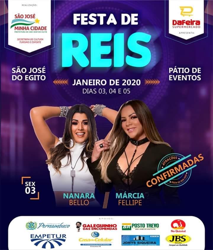 Festa de Reis de SJE começa nesta sexta (03) com Márcia Felipe e Nanara Belo
