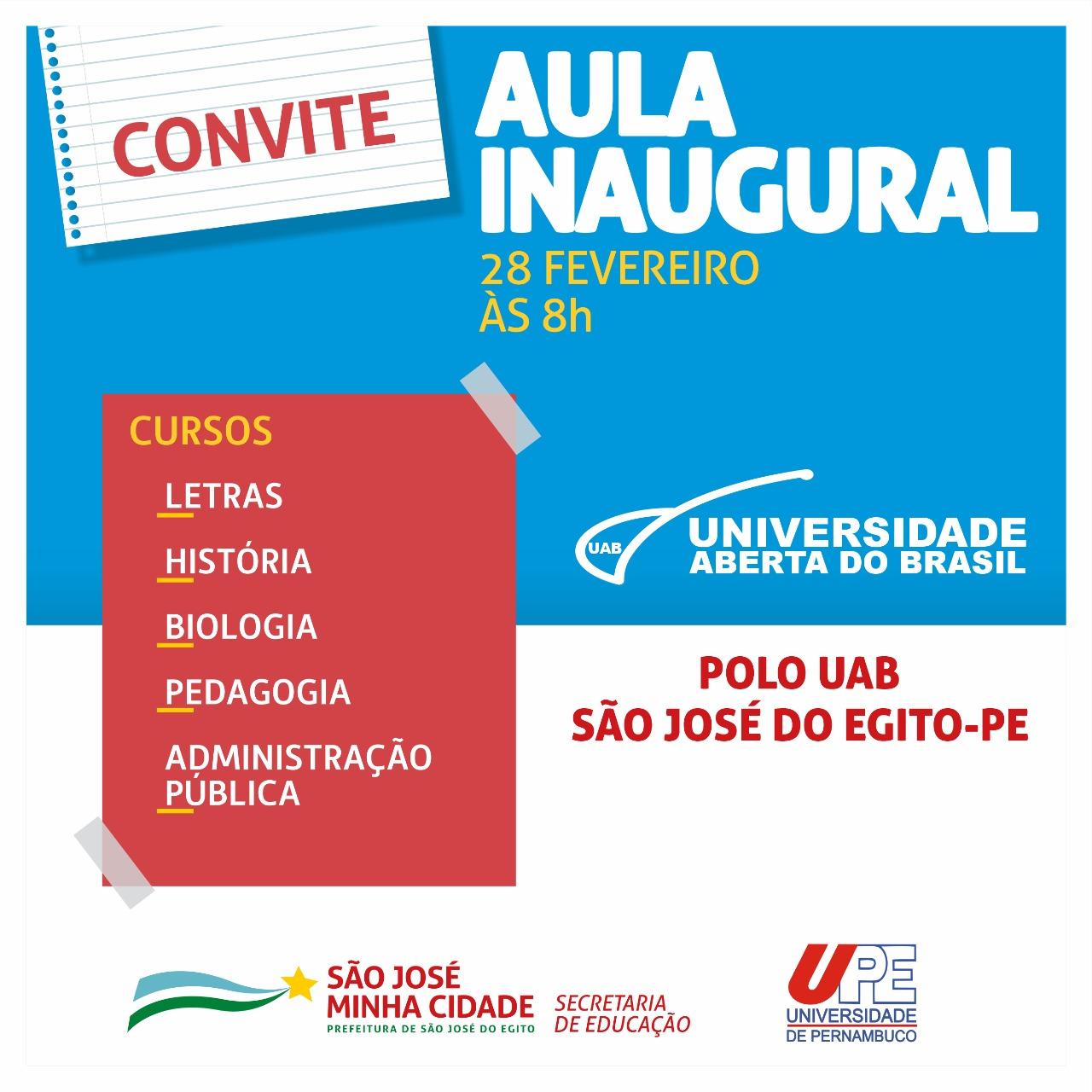 Aula Inaugural de 5 cursos superiores da UPE em SJE acontece nesta sexta (28)