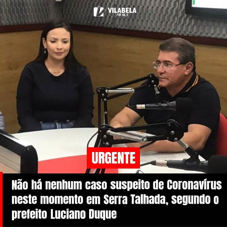 Depois de correr por blogs da região, prefeito desmente notícia de possíveis casos  de coronavirus em Serra Talhada