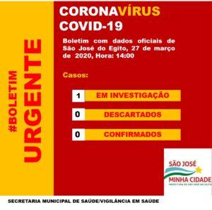 SJE registra primeiro caso suspeito de coronavirus