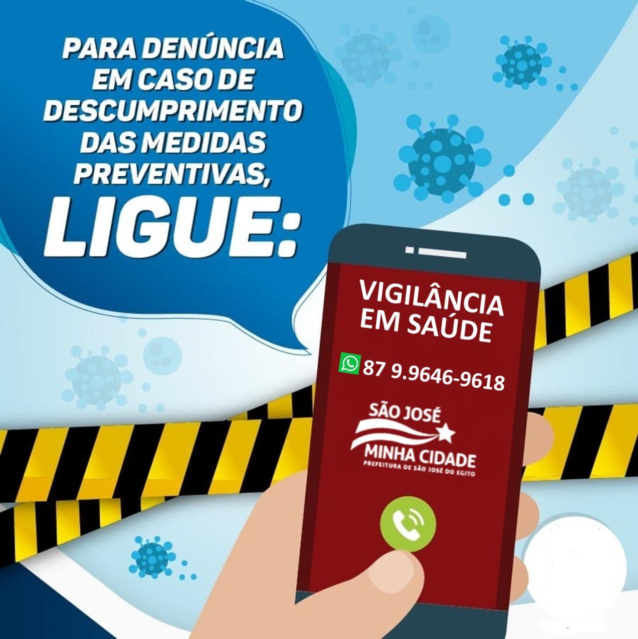 Em SJE Vigilância em Saúde anuncia telefone para possíveis denúncias sobre coronavirus