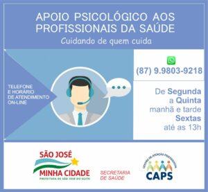 SJE lança serviço de atendimento psicológico para trabalhadores da saúde
