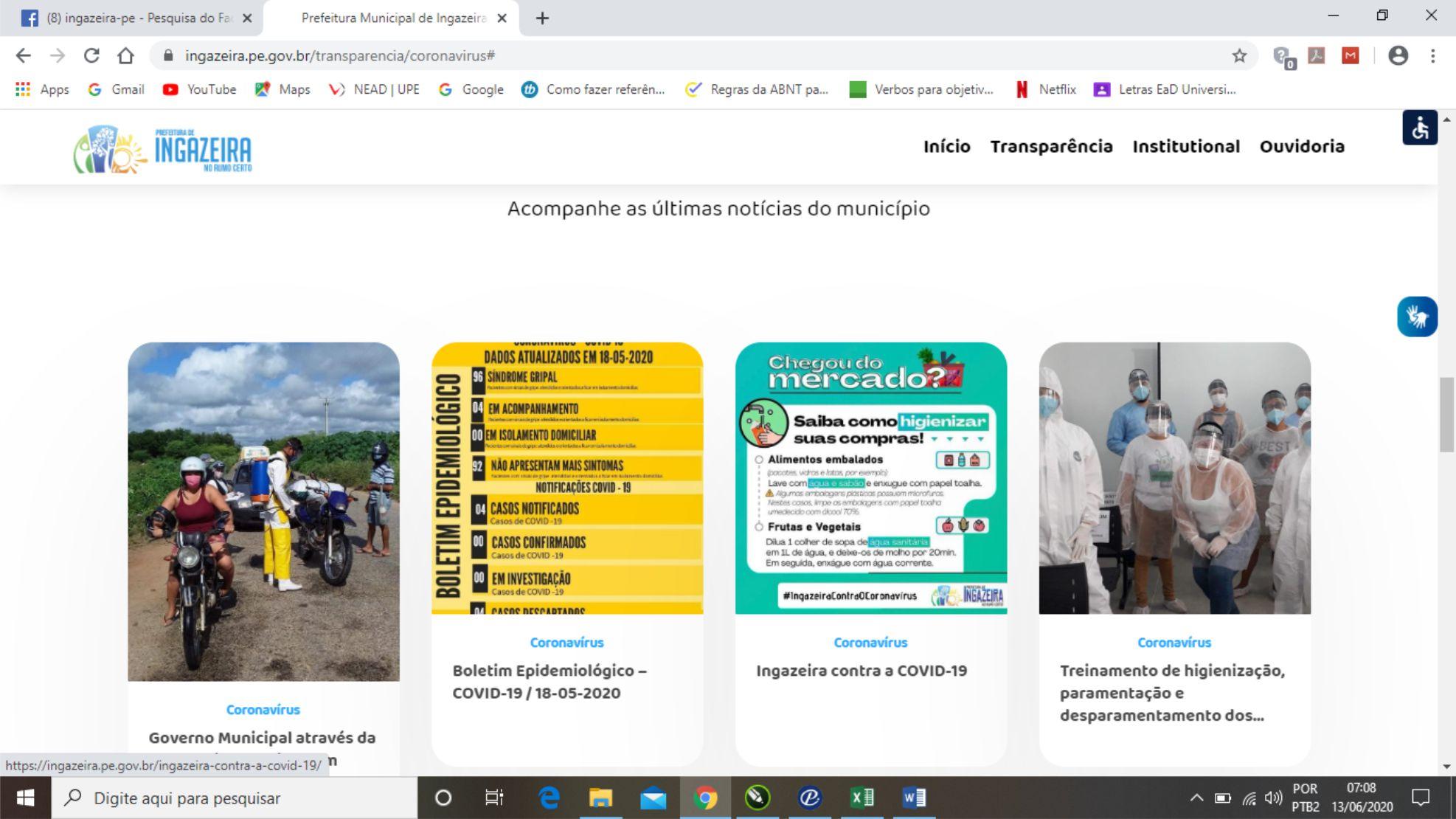 Ingazeira é única cidade do Pajeú que não disponibiliza boletins atualizados do coronavírus em canais oficiais