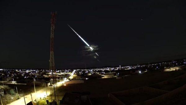 Clarão visto no céu na noite dessa quarta (15) era Meteoro que passou entre Serra Talhada e Arcoverde