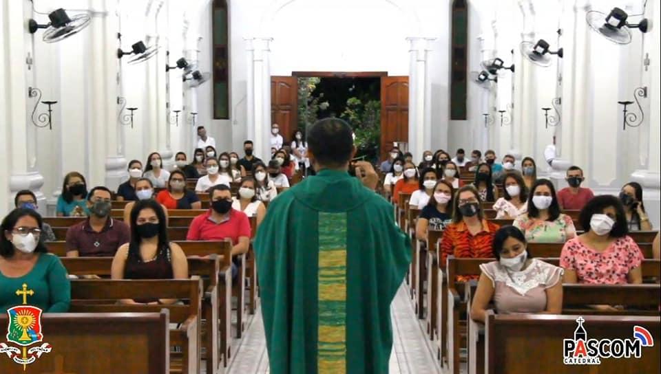 Depois de mais de 4 meses, primeira missa com presença de fiés foi celebrada na Diocese de Afogados da Ingazeira