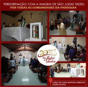 Imagem peregrina de São Judas Tadeu chega a 3ª comunidade rural em SJE