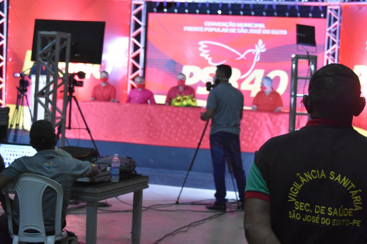 Vigilância Sanitária fiscalizou live da 1ª convenção realizada em SJE em 2020