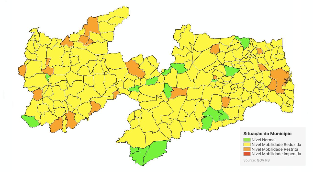 Mais de 50% dos municípios da Paraíba têm campanha polarizada entre duas candidaturas para prefeito