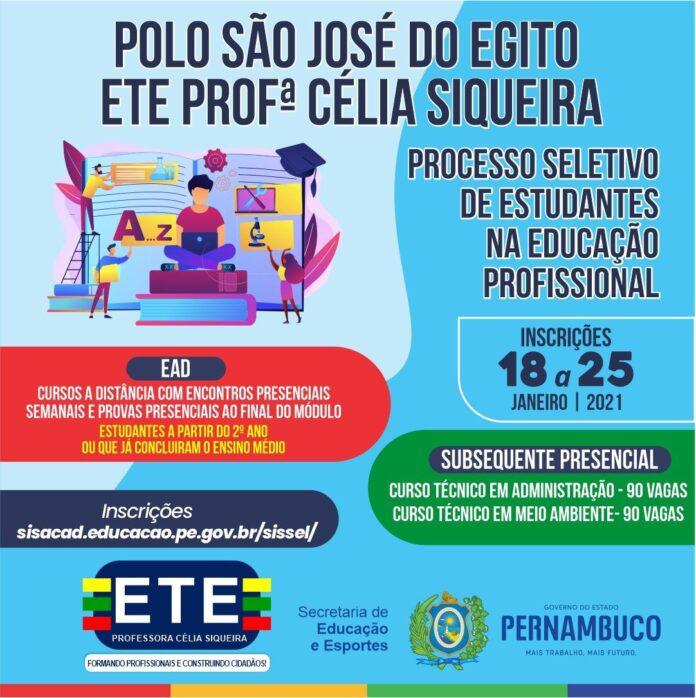 Inscrições para cursos EaD e Presenciais da ETE Célia Siqueira estão abertas