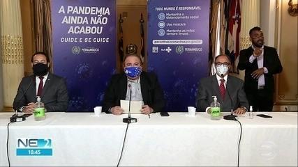 Pernambuco proíbe eventos com mais de 150 pessoas e avalia fechar praias por causa da pandemia