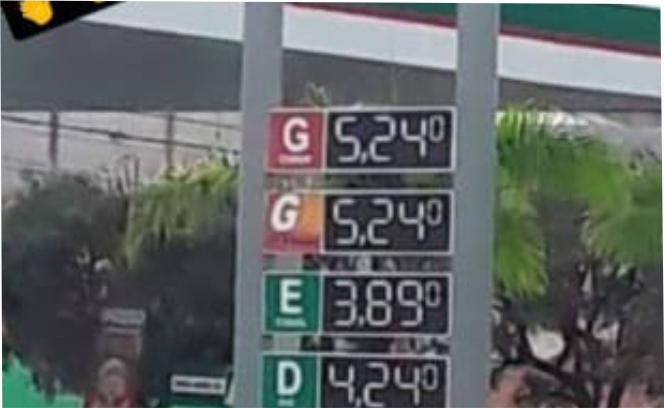 Preço da gasolina bate R$ 5,24 em SJE e população se revolta nas redes sociais