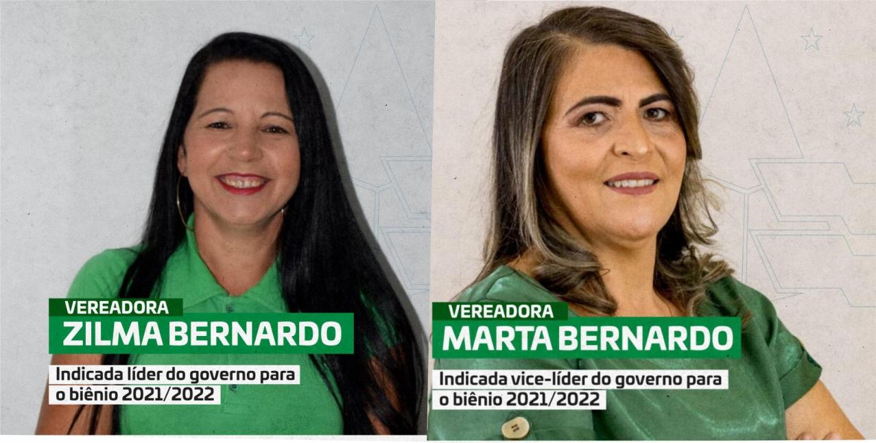 Definidas, líder e vice-lider do governo do prefeito Augusto Valadares na Câmara de Vereadores
