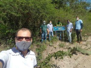 Prefeito Gilson Bento visita e discute revitalização da nascente do Rio Pajeú