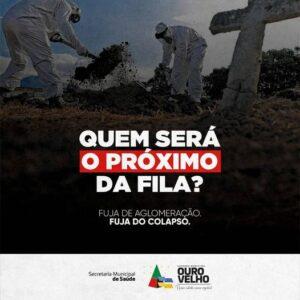 Prefeitura de Ouro Velho lança campanha contra aglomerações