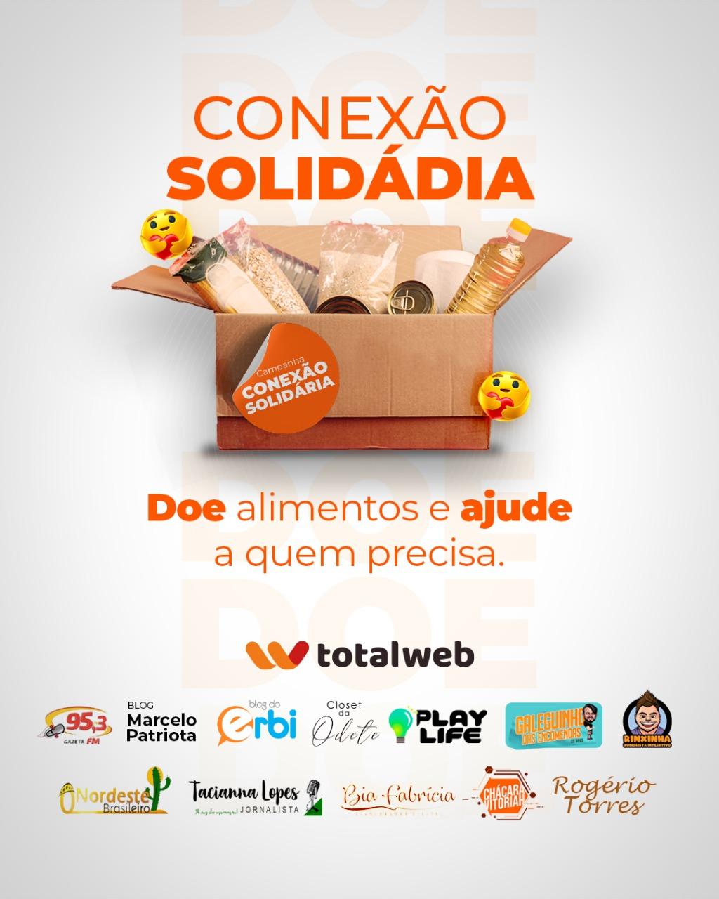 Empresa Totalweb lança Projeto Conexão Solidária para doar cestas básicas à famílias carentes