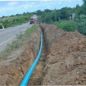Prefeitura de Brejinho destaca em suas redes sociais rapidez de obra da adutora que vai levar água para a cidade