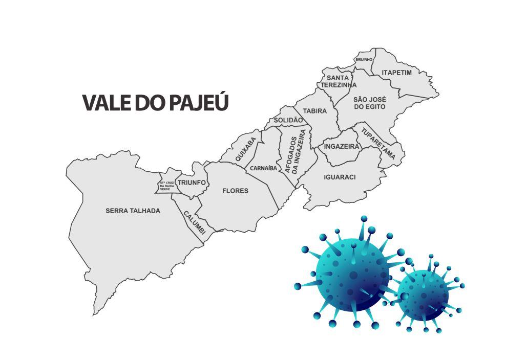 Pajeú aumenta ainda mais número de doentes por covid-19; 539 pessoas já morreram por causa da doença na região