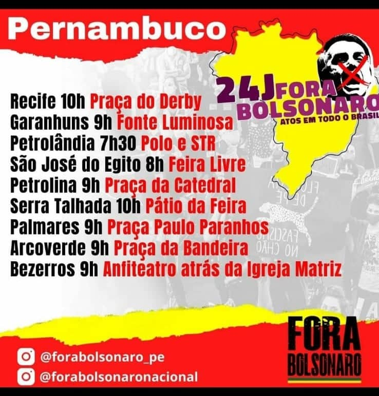 SJE será uma das 200 cidades que terá manifestação contra Bolsonaro neste sábado (24)