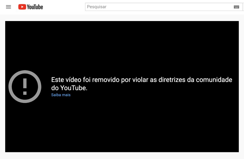 YouTube remove vídeos do canal do presidente Jair Bolsonaro