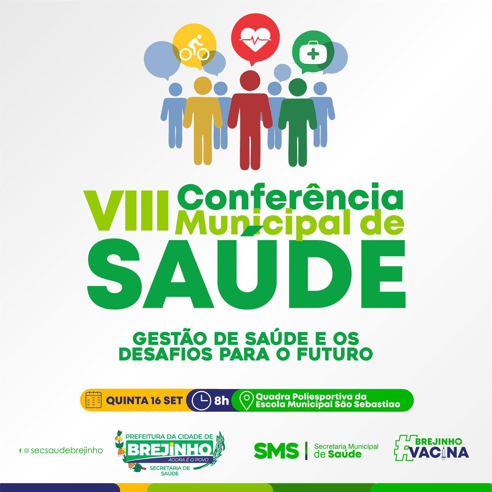 Brejinho realizará 8ª Conferência Municipal de Saúde