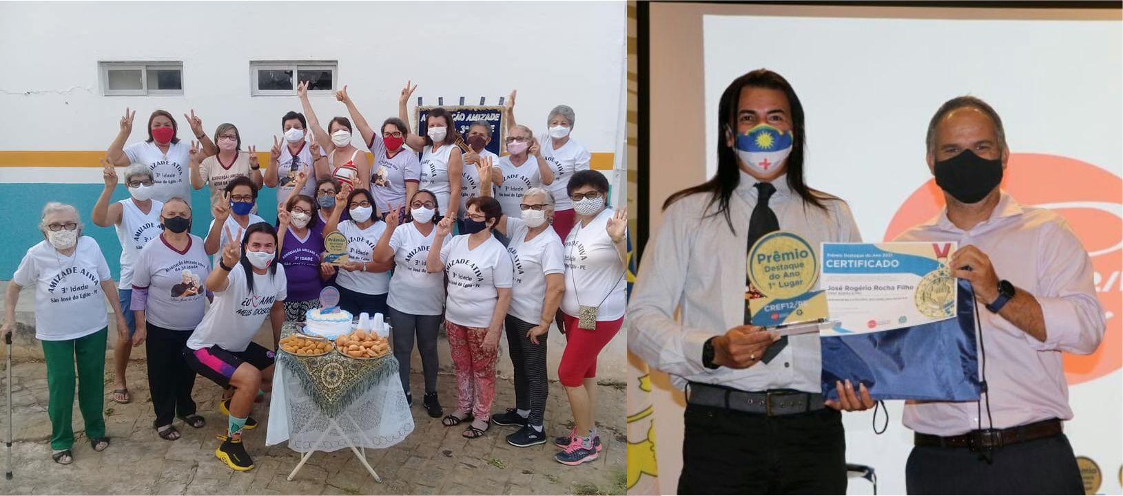 Rogério Rocha comemora com integrantes do Grupo Amizade Ativa conquista estadual