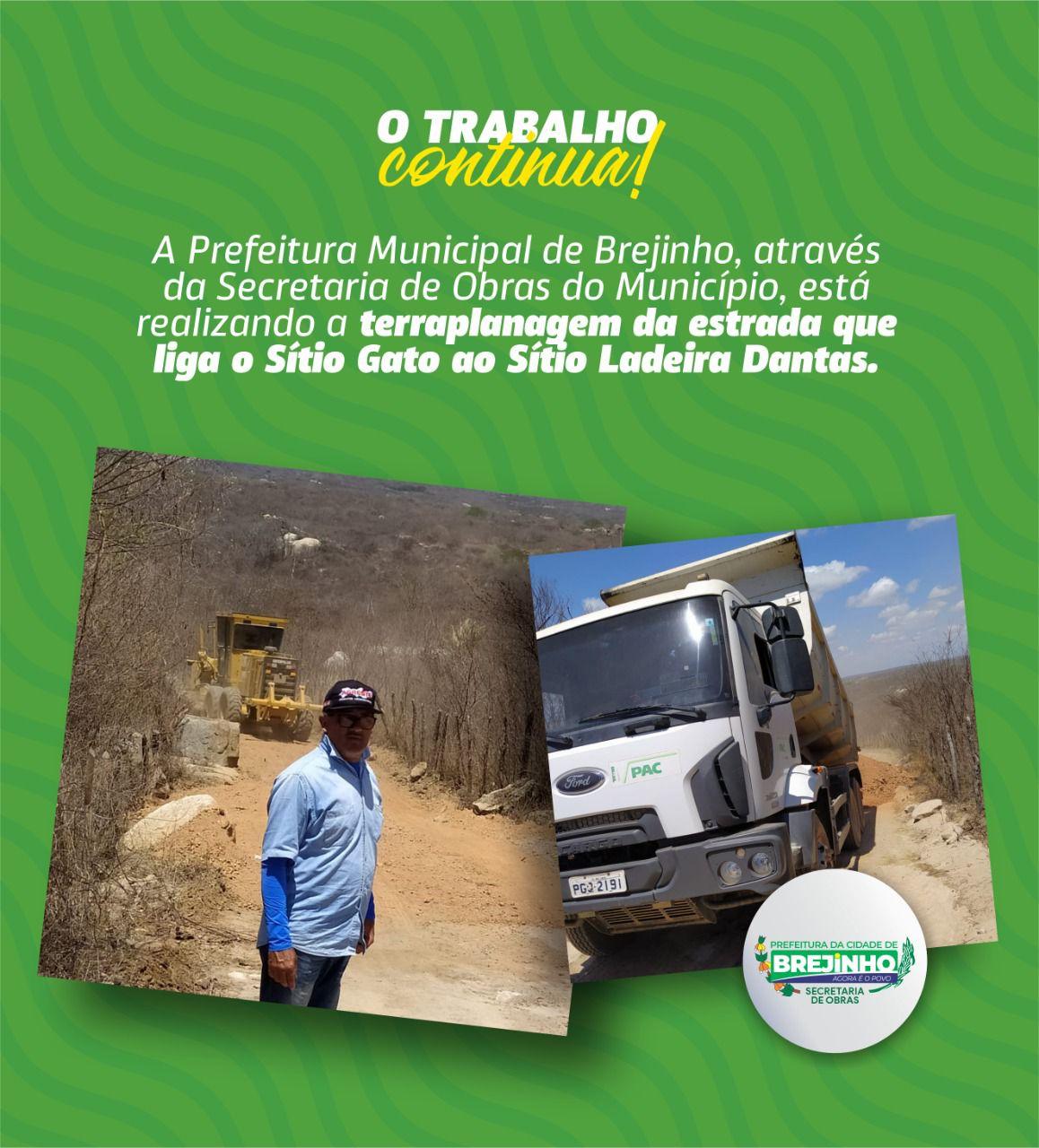 Prefeitura de Brejinho segue recuperando as estradas vicinais