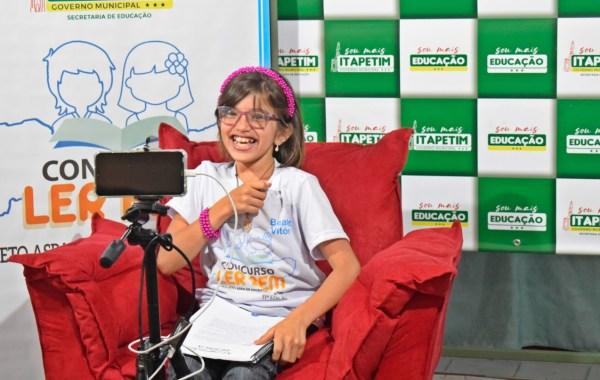 Aluna do 4º ano de Itapetim é campeã estadual no concurso ler bem